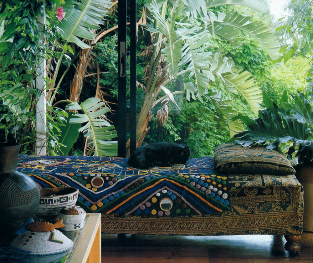 Garden ethniciti for Decoration jardin tropical